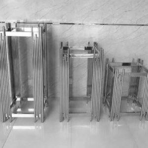 Grandeur luxe silver tables